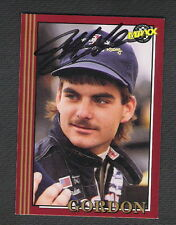 Autographed Jeff Gordon 1992 Maxx Rookie Card #29 NASCAR
