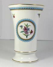 Spode England Trapnell Vase Butterflies Blue Wreath Floral Gild Bone China 5.25""