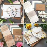 Personalised Wedding Invitations With Envelopes - Day Wedding Invite Samples