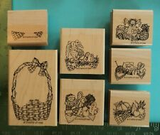 WICKER BASKET and INSERTS Rubber Stamp by STAMPIN UP