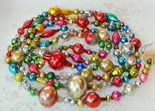 7 FEET 100% Vintage Mercury Glass Bead Christmas Garland BIG Beads !!
