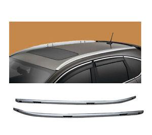 For 12-16 Honda CRV Roof Rack Side Rail Luggage Carrier Bar Silver OE Style