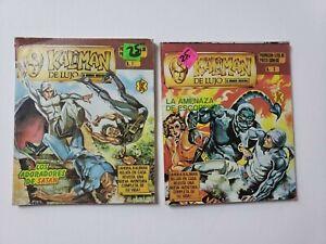 KALIMAN De Lujo 1989 LOT OF 2 MEXICAN COMIC BOOKS, #3, #7 VINTAGE COMIC / SATAN