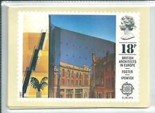 GB - PHQ CARDS -1987 - EUROPA - ARCHITECTURE - BACK - FDI/SHS - COMP SET  USED