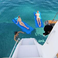 4-Layer Tear-proof Floating Water Pad Island Lake Pool Foam Mat & Rolling Pillow