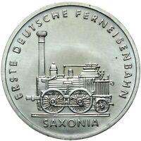Gedenkmünze DDR - 5 Mark 1988 A - Erste Lokomotive Saxonia - Stempelglanz UNC