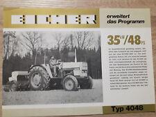 Original Traktor Eicher Prospekt 4048
