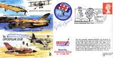 Cc63 WWII ww2 Biggin Hill Air Fair RAF CATERPILLAR CLUB Cover Signed Almond DFM