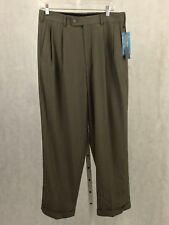 MEN'S PERRY ELLIS PORTFOLIO 32 x 30 CUFFUED DRESS PANTS NEO-LUXE PLEATED NWT