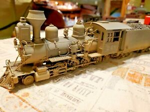 On3 brass Kemtron locomotive C 16 super nice weathered with cab detail. Dc