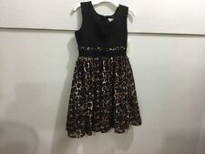 youth girls size 12 leopard printed adorable dress