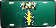 Novelty license plate military Special Forces Airborne New Aluminum auto tag
