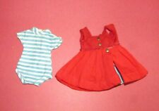 Vintage Betsy McCall Coed B-24 Version #1 Red Jumper and Striped Romper