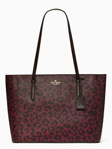 New Kate Spade Schuyler Graphic Leopard medium tote