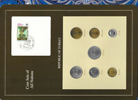Coin Sets of All Nations Turkey 1982-1989 UNC 50,100,500 Lira 1989