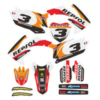 Customized Full Graphic Decals Kit Sticker For HONDA CRF250R 2010-2013 Motocross