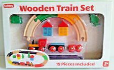 Wooden Train Set Magnetic Attachment - 19 Pieces - Traditional Wood Toys