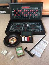BLACK JACK ROULETTE CRAPS (Home Casino Gaming Board 3 in 1) 48cmx 28cmx 6cm Wood