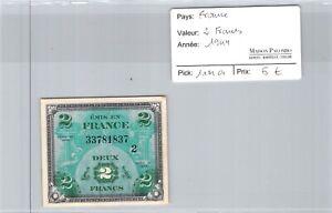 Banknote France Tresor - 2 Francs 1944 - Pick 114a - N° 337811837