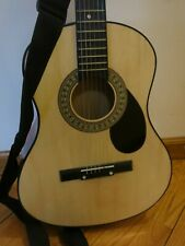 36 Inch Beginner Acoustic Starter Guitar w/ Case, Strings (Natural)