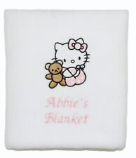 Hello Kitty Personalised Baby Blanket *Choose Design* Christening, Baby Shower