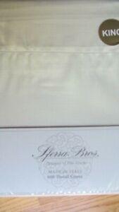SFERRA Sheet Set King 600TC 100% Extra Long Staple Cotton Silky Sateen Ivory
