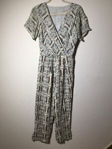 Unbranded Womens Silk Patterned Jumpsuit Size 10 Good Condition