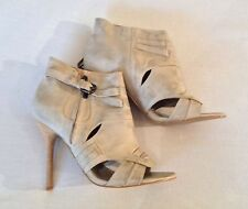 River Island 100% Leather Ankle Boots Stiletto Women's Shoes