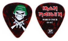 Iron Maiden Janick Gers Trooper Gers MISPRINT Brown Guitar Pick - 2006-2007 Tour