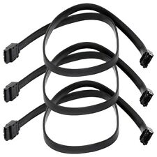 "3 Pcs 24"" SATA 3.0 III SATA3 SATAiii 6 Gbps HDD Hard Drive Data Cable Cord Black"