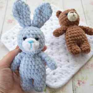 CROCHET PATTERN for Bear and Bunny Toy Amigurumi