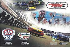 2018 MARTINSVILLE SPEEDWAY TRUEX,LOGANO,KESELOWSKI NASCAR HANDOUT POSTCARD