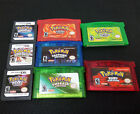 Pokemon New Game Cards Platinum Emerald Ruby US Version For GBA/3DS 1/3/5PCS