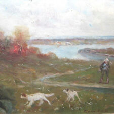 Smith Gean 1851-1928 New York hunting Jagd Hunde dogs painter United States !!!