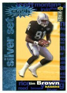 1995 Upper Deck Tim Brown #C23 Football Card OS2.