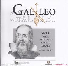 """ITALIE  BU SET 2014 MET 2 EURO """"GALILEO GALILEI"""""""