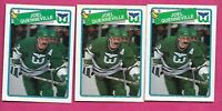 3 X 1988-89 OPC  # 3 WHALERS JOEL QUENNEVILLE CARD (INV# C2592)