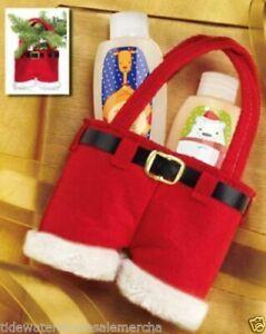 AVON Santa Pants Christmas Holiday Ornaments Felt Gift Bags for Mini Items,Candy