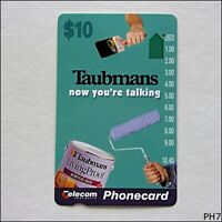 Telecom Taubmans Now You're Talking A951013a 873  $10 Phonecard (PH7)