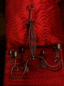 Black Metal Candelabra For Taper Candles - Holds 6 candles - 18 x 16 inches