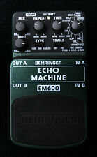 Behringer em600 echo Machine el efecto ha sido sólo una vez usado reverse delay!