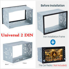 Car Auto Double Din Dashboard Radio Installation Frame Kit Metal Fascia Mounting