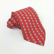 SOUTHERN TIDE Mens Tie 100% Silk Red Logoed