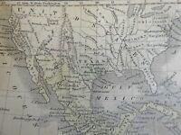 Mexico Texas Republic Caribbean Islands c. 1845 Boynton miniature map