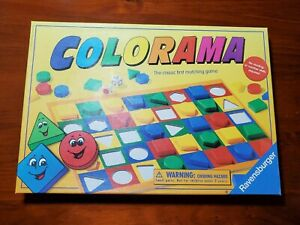 Ravensburger Colorama Matching Shapes Colors Dice Rolling Competing Board Game
