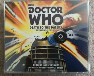 Doctor Who: Death to the Daleks by Terrance Dicks. 3 CDs, BBC Audio, 2014.