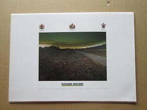 Range Rover  brochure RR405 1986.Land Rover brochure.4 x 4 brochure.