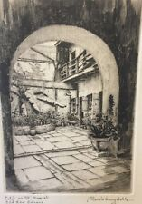 MORRIS HENRY HOBBS Signed Etching/Print Patio on St Ann's Street Old New Orleans