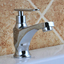 Bathroom Vessel Sink Faucet Wash Basin Single Hole One Way Cold Water Tap Chrome
