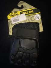 Valken Tactical Paintball Glove 1/2 Finger Protective Size Xs/S Black New